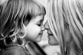 motherhood black and white