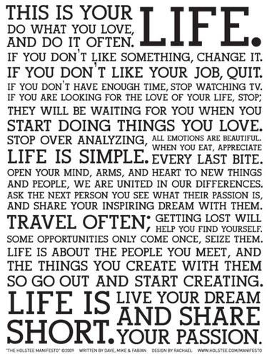 this is your life words